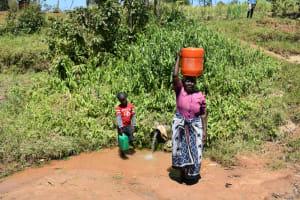 The Water Project: Shianda Community, Govet Lumbasi Spring -  Leaving The Spring