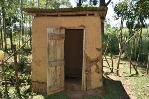 The Water Project: Shianda Community, Govet Lumbasi Spring -  The Latrine