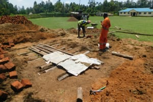 The Water Project: ACK St. Peter's Khabakaya Secondary School -  Latrine Foundation Work