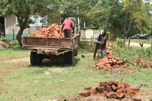 The Water Project: Makunga Secondary School -  Brick Delivery