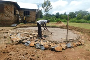 The Water Project: ACK St. Peter's Khabakaya Secondary School -  Pouring Concrete