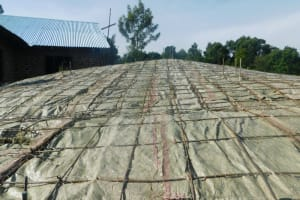 The Water Project: ACK St. Peter's Khabakaya Secondary School -  Rebar And Sack Dome Skeleton