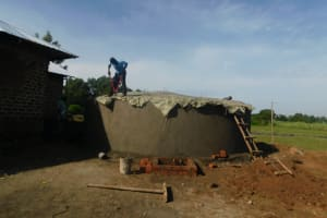The Water Project: ACK St. Peter's Khabakaya Secondary School -  Construction Of Dome