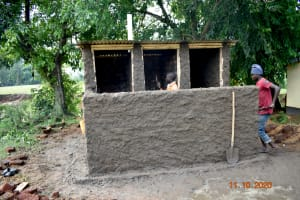 The Water Project: Makunga Secondary School -  Cementing New Latrines