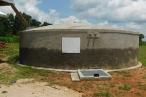 The Water Project: ACK St. Peter's Khabakaya Secondary School -  Complete Rain Tank
