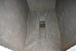 The Water Project: Makunga Secondary School -  Inside Platform Of A New Latrine