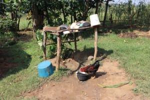 The Water Project: Makhwabuyu Community, Shirandula Spring -  Dishrack