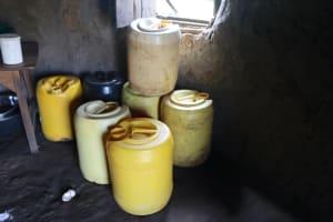 The Water Project: Makhwabuyu Community, Shirandula Spring -  Water Storage Cointainers