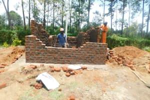 The Water Project: ACK St. Peter's Khabakaya Secondary School -  Latrine Wall Construction