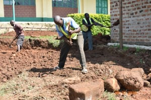 The Water Project: Makunga Secondary School -  Rain Tank Site Excavation