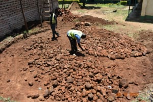 The Water Project: Makunga Secondary School -  Laying Rock Foundation