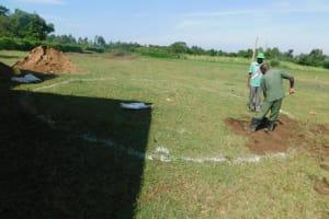 The Water Project: ACK St. Peter's Khabakaya Secondary School -  Rain Tank Ground Breaking