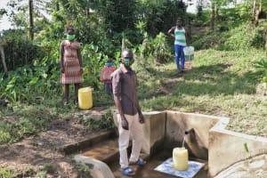 The Water Project: Bukhunyilu Community, Solomon Wangula Spring -  Kamins At The Spring