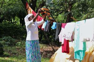 The Water Project: Shilakaya Community, Shanamwevo Spring -  Airing Clothes To Dry