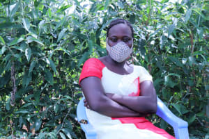 The Water Project: Emulakha Community, Alukoye Spring -  Everlyne With Her Mask