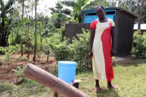 The Water Project: Emulakha Community, Alukoye Spring -  Next To Her Handwashing Station