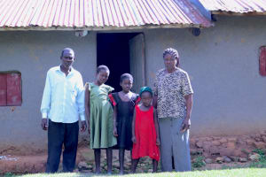 The Water Project: Shitoto Community, William Manga Spring -  Adelide With Her Family At Home