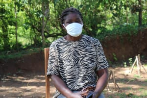 The Water Project: Shitoto Community, William Manga Spring -  Adelide With Her Mask On