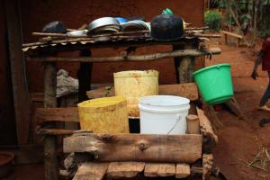 The Water Project: Shamakhokho Community, Wizula Spring -  Dishrack