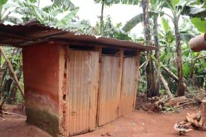 The Water Project: Shamakhokho Community, Wizula Spring -  Latrine