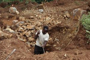 The Water Project: Shamakhokho Community, Wizula Spring -  Rock Harvesting