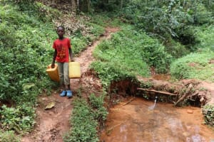 The Water Project: Shamakhokho Community, Wizula Spring -  Arriving At The Spring