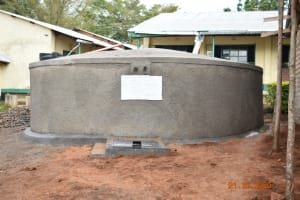 The Water Project: Makunga Secondary School -  The New Rain Tank