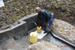 The Water Project: Mahola Community, Oyula Spring -  An Old Mama Shows Her Happiness