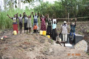 The Water Project: Mahola Community, Oyula Spring -  Celebrating The New Spring