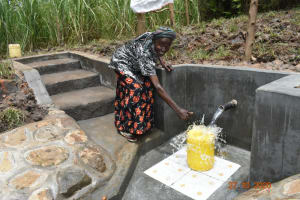 The Water Project: Mahola Community, Oyula Spring -  Cheers And Thank You