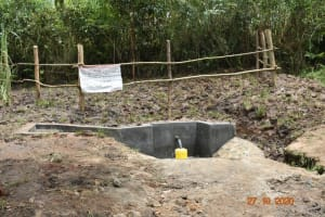 The Water Project: Mahola Community, Oyula Spring -  Completed Oyula Spring
