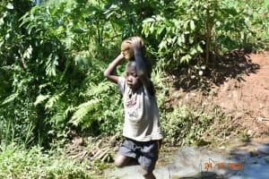 The Water Project: Mahola Community, Oyula Spring -  Everyone Had A Role To Play