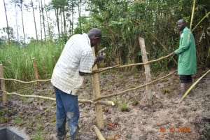 The Water Project: Mahola Community, Oyula Spring -  Fencing