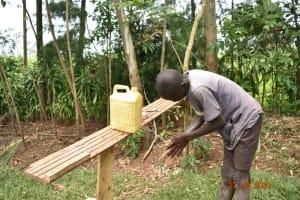 The Water Project: Mahola Community, Oyula Spring -  Handwashing Volunteer