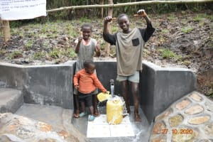 The Water Project: Mahola Community, Oyula Spring -  Happy Day