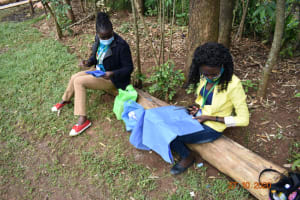 The Water Project: Mahola Community, Oyula Spring -  Mask Making Session