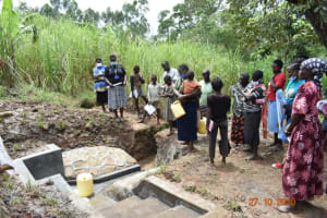 The Water Project: Mahola Community, Oyula Spring -  Site Management Training