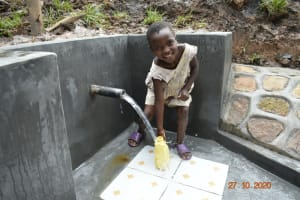 The Water Project: Mahola Community, Oyula Spring -  Happy For Clean Water