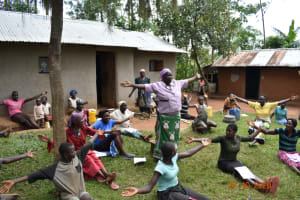 The Water Project: Mahola Community, Oyula Spring -  Physical Distancing Check