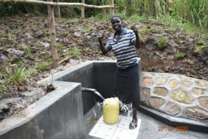 The Water Project: Mahola Community, Oyula Spring -  Yes Clean Water