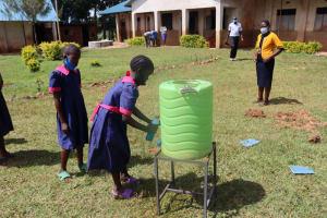 The Water Project: Jinjini Friends Primary School -  Handwashing Demonstrations