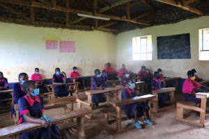 The Water Project: Jinjini Friends Primary School -  Masks On And Distanced