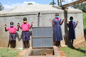 The Water Project: Jinjini Friends Primary School -  Posing At The Water Point