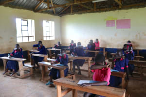 The Water Project: Jinjini Friends Primary School -  Practicing The Elbow Cough
