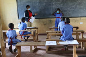 The Water Project: Mukoko Baptist Primary School -  How To Wear Masks Properly