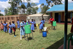 The Water Project: Mukoko Baptist Primary School -  Proper Handwashing Means Using Soap
