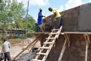 The Water Project: Mutulani Secondary School -  Artisans Work On The Roof