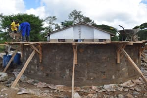 The Water Project: Mutulani Secondary School -  Building Tank Walls