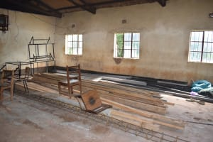 The Water Project: Mutulani Secondary School -  Construction Materials Stored In A Classroom