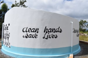 The Water Project: Mutulani Secondary School -  Painted Tank
